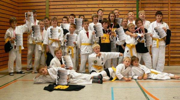 Erfolgreiche Jugend der Judoabteilung TV Niederstetten