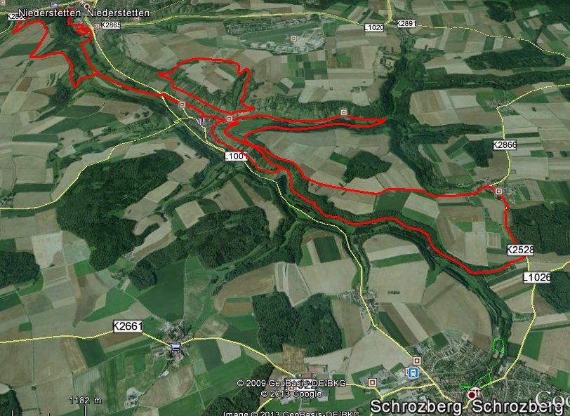 """Route """"Harte Mann"""" Extremlauf"""