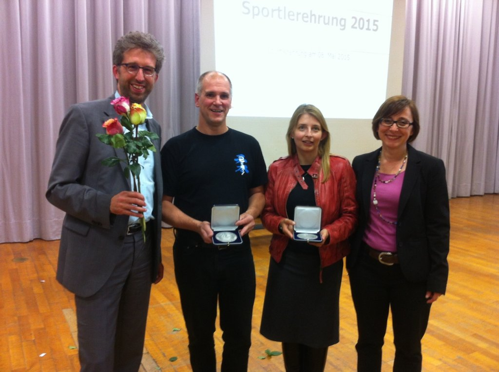 OB Boris Palmer, Wolfgang  Fanderl, Heike Betz und  Bürgermeisterin Dr. Christine Arbogast