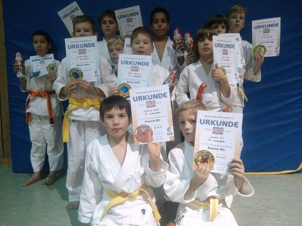 Teilnehmer an der Judosafari in Niederstetten